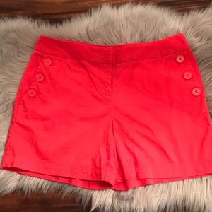 Nautical coral color shorts size 4
